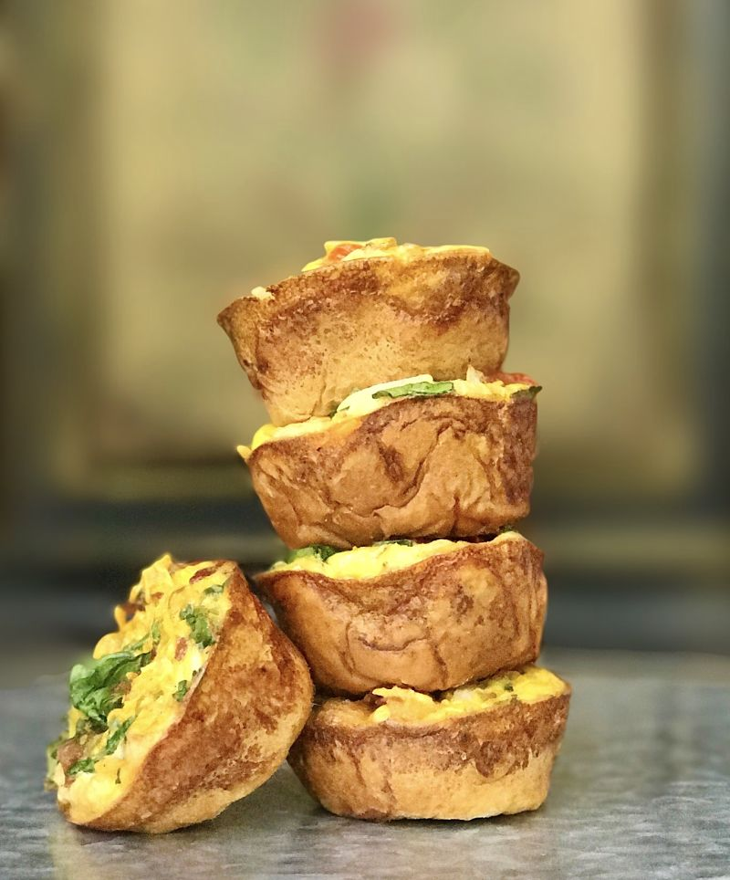 20 Make Ahead Breakfast Recipes With Eggs: Make Ahead Egg Vegetable Breakfast Muffin