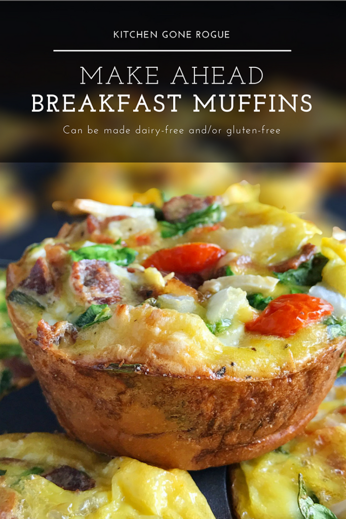 Make Ahead Egg Vegetable Breakfast Muffin Kitchen Gone Rogue