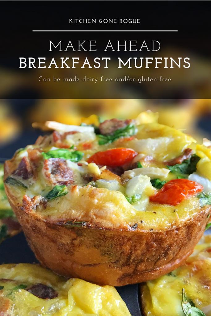 Make Ahead Egg Vegetable Breakfast Muffin Kitchen Gone Rogue